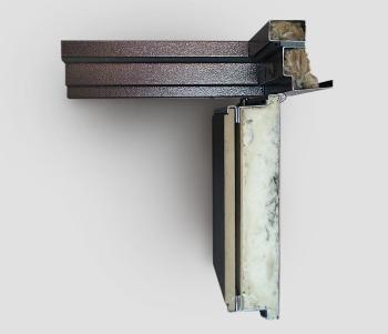 Дверная коробка и полотно в разрезе